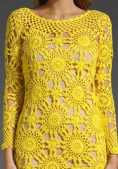 Fabulous Crochet a Little Black Crochet Dress Ideas. Georgeous Crochet a Little Black Crochet Dress Ideas. Crochet Blouse, Crochet Lace, Knit Dress, Crochet Shawl, Dress Patterns, Crochet Patterns, Mode Crochet, Online Dress Shopping, Beautiful Crochet