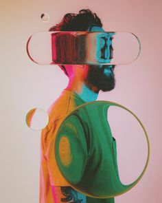 """humanofcolor: """"DANNY JONES: DIGITAL ART: U. Artist Statement: """"Exploring the space of lenses and refraction in based off some portraits of myself. Photography by Melanie Riccardi:. Photomontage, Grid Design, Design Art, Grand Art, Experimental Photography, Montage Photo, Glitch Art, Wow Art, Art Plastique"""