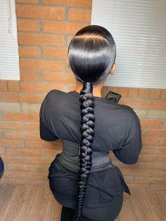 Girly Hairstyles, Birthday Hairstyles, Black Girl Braided Hairstyles, Slick Hairstyles, African Braids Hairstyles, My Hairstyle, Baddie Hairstyles, Hair Ponytail Styles, Slick Ponytail