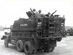 Vietnam Gun Truck - M-113 APC chassis mounted on the bed of a truck