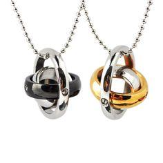 Mens necklace couples women titanium steel pendant chain clavicle three | rockabilly necklace