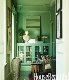 "The Paint Color That Can Make Ugly Stuff ""Disappear""   - HouseBeautiful.com"