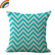 Frete grátis personalizado criativo geométrica impressão franja Cotton Linen Throw Pillow Case capa almofada para assento decoração de casa sofá(China (Mainland))