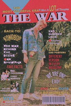 80s Posters, Kpop Posters, Sehun, Retro Aesthetic, Kpop Aesthetic, K Pop, Popteen, Exo Lockscreen, Movie Covers