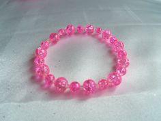 Bracelet  Hot Pink Beaded Bracelet  Simply by YouniquelyElegant, $10.00
