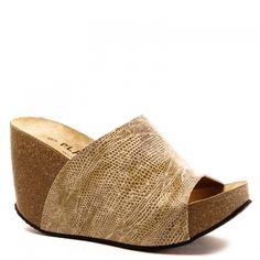 e0b84786c365 LIGNE I - Chaussures Plakton · Sabots compensés Plakton I-Hype Boa Camel