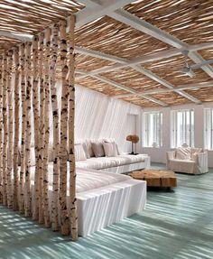 Separar estancias con troncos
