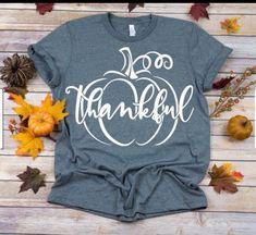 Pumpkin svg, Fall svg, Give Thanks svg, Thankful svg, Thanksgiving svg SVG Dxf EPS Png Jpg Vector Clipart Cut Print File Cricut & Silhouette Diy Shirt, Tank Top Shirt, Neck T Shirt, Tank Tops, Fall Shirts, Cute Shirts, Personalized Shirts, Monogram Shirts, Vinyl Shirts