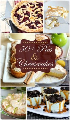 50+ Pies & Cheesecakes - PERFECT for Thanksgiving!! { lilluna.com }
