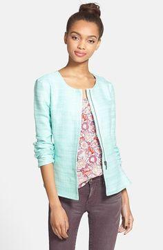 Stoosh Ruffle Back Tweed Jacket (Juniors) #fitgirltravels #fashion #jackets www.fitgirltravels.com