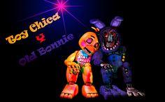 Toy chica X Old Bonnie 7w7 by BinbashoDash