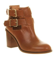 Office Understanding Tan Leather - Ankle Boots