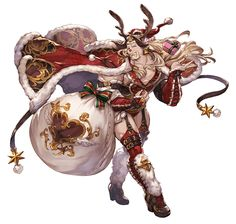 View an image titled 'Holiday Ladiva Art' in our Granblue Fantasy art gallery featuring official character designs, concept art, and promo pictures. Game Character Design, 2d Character, Character Design References, Character Design Inspiration, Character Concept, Concept Art, Character Creation, Fantasy Kunst, Fantasy Art
