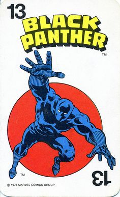 Marvel Comics Superheroes Game Card 13 - Black Panther by RedRaspus, via Flickr #BlackPanther #Avengers