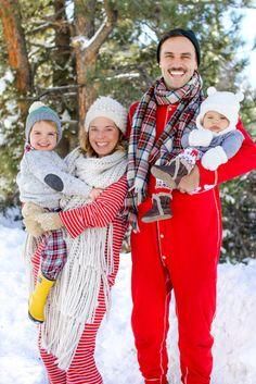 Christmas PJ's family card