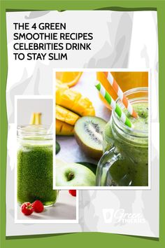 I'm so excited to share the secret green smoothie recipes celebrities are drinking to stay slim. These recipes will help you get the same kind of results. Green Smoothie Cleanse, Green Detox Smoothie, Green Smoothie Recipes, Green Smoothies, Smoothie Diet, Healthy Smoothies, Healthy Food, Healthy Recipes, Alternative Health
