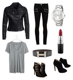 A fashion look from November 2015 featuring v neck t shirts, moto jacket and Paige Denim. Browse and shop related looks. Casual Party, Paige Denim, Giuseppe Zanotti, Mac Cosmetics, New Look, Madewell, V Neck T Shirt, Tommy Hilfiger, Fashion Looks