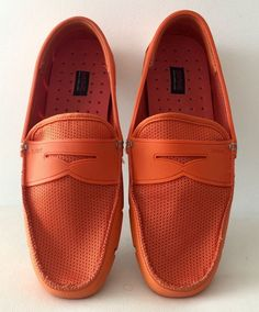 18ffcbd5e79 SWIMS Breeze Penny Loafer Color Orange Driving Moccasin for Men s size 10   fashion  clothing