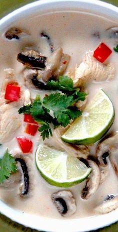 Tom Kha Gai (Chicken Coconut Soup) | Carlsbad Cravings