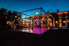 [Dj + Percussionist + Violinist + String Lights + Uplighting + Dance-floor + Pergola] @ La Bandita - Pienza (Siena)