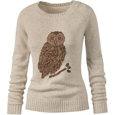 Fat Face Dani Owl Intarsia Jumper ($73) found on Polyvore...i want this!