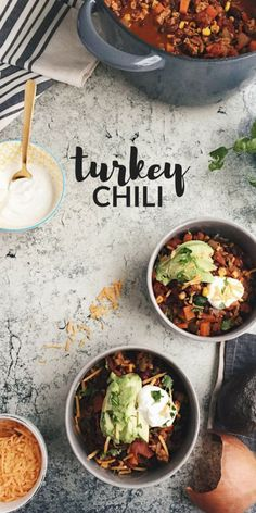 This healthy Turkey and Bean Chili is hearty, comforting, and perfect for a chilly winter day. It uses a special ingredient of raw cocao to balance and mellow the spices.