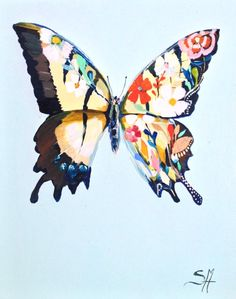Butterfly 3 (painted this one at paint night with friends. always makes a painting better)
