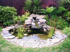 Round Pond. Small Garden PondsSmall PondsBackyard ...