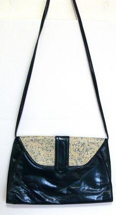 Vtg Stuart Weitzman Leather Shoulder Cross body Bag Purse Clutch Made in Spain #StuartWeitzman #ShoulderBag