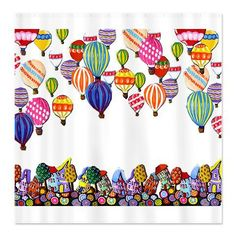 Hot Air Balloons Folk Art