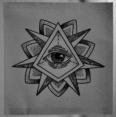 Triangle Eye Tattoo by Guilherme Hass, via Behance Dreieckiges Tattoos, Tattoo Drawings, Tattoos For Guys, Eye Drawings, Tatoos, Geometric Eye Tattoo, Triangle Tattoos, Eye Drawing Simple, Triangles
