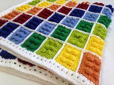 Crochet Block Blanket Building Block Pattern Crochet Brick