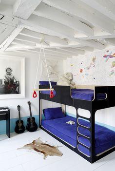 foorni.pl   Paryski apartament - pokój dziecięcy, łóżko piętrowe