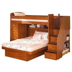 Space Saver Twin Over Full Bunk Bed with Chest by Berg - Darvin Furniture - Bunk Bed Orland Park, Chicago, IL