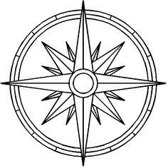 Cool compass design.