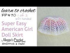 Crochet Easy American Girl Doll Skirt - 1 of 2 Left Handed