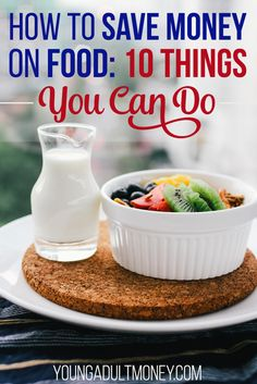 Food is one area where most people would like to spend less money. We share some ideas of how to save money on food, whether it's groceries or eating out. via @YoungAdultMoney
