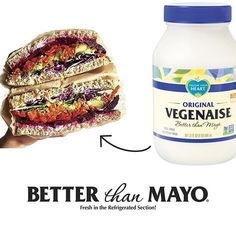 Rainbow veggie sandwich brought to you by ‪#‎Vegenaise‬. Pic and sandwich by @plantbasedblonde. ‪#‎BetterThanMayo‬
