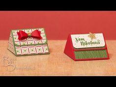 Tutorial: Coole Dreiecksbox - weihnachtlich dekoriert mit Stampin' Up! - YouTube