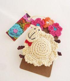 Items similar to Crochet Sheep Ornament - Sheep Pin - Animal Ornament - Lamb Ornament - Farmhouse decor - Lamb Pin - Nursery decor - Gift for Kids on Etsy Crochet Brooch, Crochet Motif, Crochet Flowers, Crochet Patterns, Crochet Sheep, Cute Crochet, Crochet Baby, Sheep Crafts, Crochet Embellishments