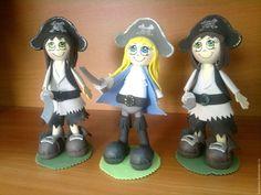 Человечки ручной работы. Куклы из фоамирана Пираты. Олеся Басирова Украшения с душой. Интернет-магазин Ярмарка Мастеров. Кукла на заказ