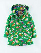 Fun Mac (Bright Green Geo Birds) #birds #rain #print