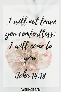 15 Scriptures when You are Grieving - Jesus Quote - Christian Quote - Prayers For Strength:John i will not leave you comfortlwss i will come to you Bible Verses Quotes, Bible Scriptures, Faith Quotes, Quotes Quotes, Cover Quotes, Grief Scripture, Comforting Scripture, Healing Scriptures, Bible Prayers