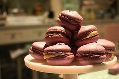 blackcurrant macarons