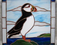puffin stained glass pattern - Google Search