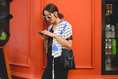 "The Best ""What IS She Wearing?"" Looks From Paris #refinery29  http://www.refinery29.com/2015/10/95202/paris-fashion-week-spring-2016-street-style-pictures#slide-24  These might be THE sunglasses of the season...."