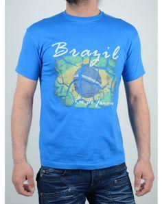 Ανδρικά Ρούχα Summer, Mens Tops, T Shirt, Blue, Fashion, Supreme T Shirt, Moda, Summer Time, Tee Shirt