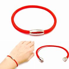 This Red String Bracelet is handmade made with Red Paracord 325 and a Metal Magnetic Clasp. The picture is of the Red Paracord Bracelet. You can select from a large variety of colors. I also have more on hand if you have a specific color you want! The bracelet is sized to wrist, just select your wrist size in inches.  I gladly customize these String Bracelets, if you want a different color, thread, a specific size etc +++ Just send me a message, I usually reply within hours.  This String…