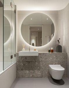 Conran and Partners Design New Cadence Residential Building in London Blue Bathroom Decor, Bathroom Interior Design, Master Bathroom, Interior Decorating, Remodeling Mobile Homes, Home Remodeling, Condo, Contemporary Bathroom Designs, Minimalist Bathroom