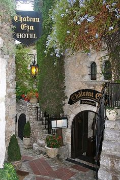 Chateau Eza in Eze, France- stayed in the room directly to the left (up the stairs) soooo beautiful!